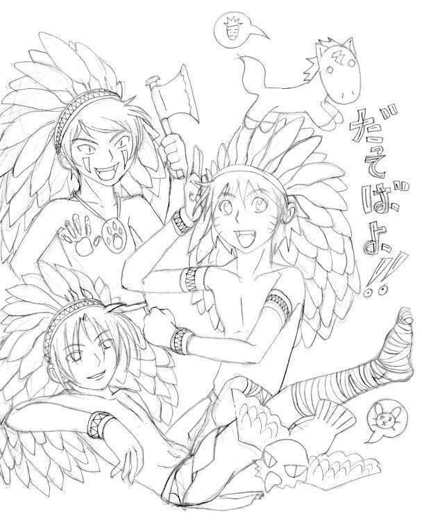 Naruto:Sasuke:Kiba:Na.Am. by naruto-sexy-no-jutsu