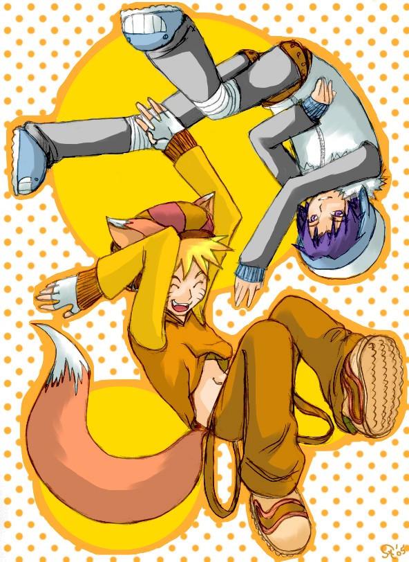 Naruto to Sasuke + Happy by naruto-sexy-no-jutsu