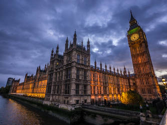 Big Ben and the Houses of Parliament by Spunkii