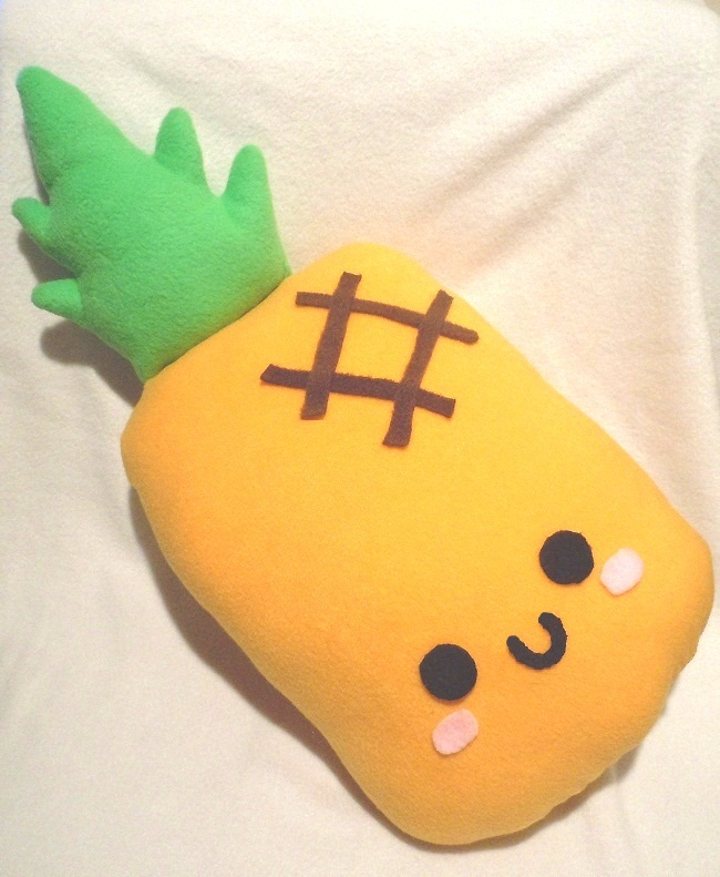 Cute Food Pillows Diy : Pineapple Plush Pillow by SugarJerseyJones on DeviantArt