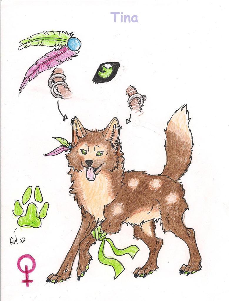 Ref Sheet for Tina by Crazywolfs
