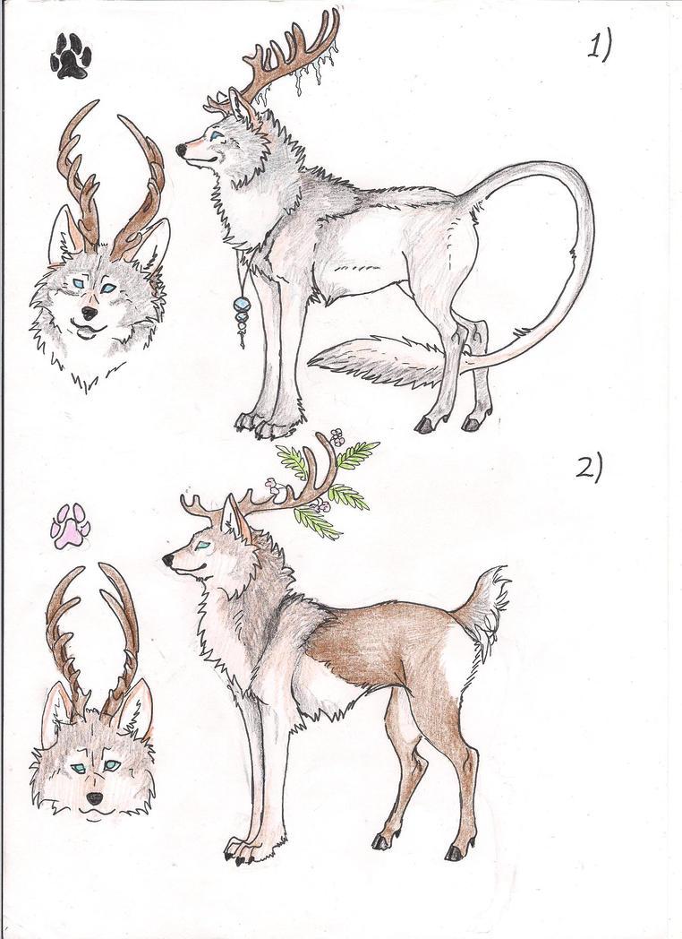 Wolf/ Deer Adoption :CLOSED: by Crazywolfs