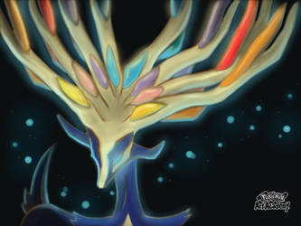 Xerneas by Sapphiredrop