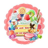 pokemon 5th gen starters by vanillatte54
