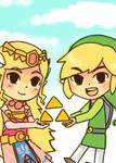 Spirit Tracks: Zelda and Link