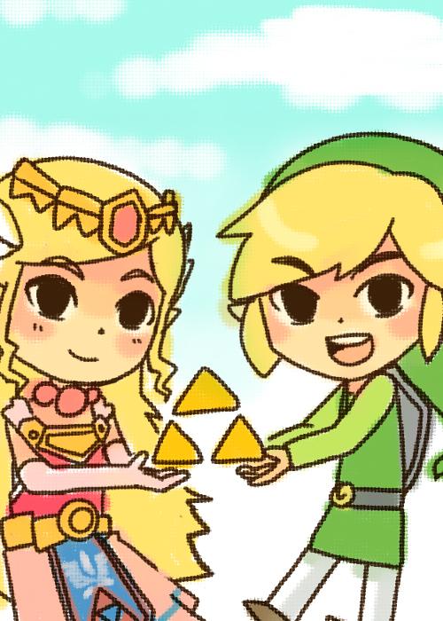 Spirit Tracks: Zelda and Link by vanillatte54