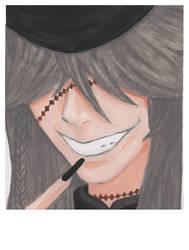 Watercolor Undertaker Poloroid by Raikeneko