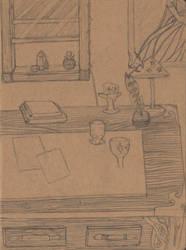 WIP Witch Desk by Raikeneko
