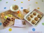 Dollhouse Miniature Chocolate Chip Cookies