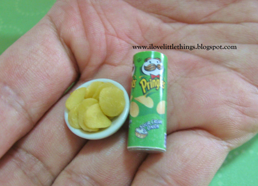 Dollhouse Miniature Pringles Potato Chips by ilovelittlethings