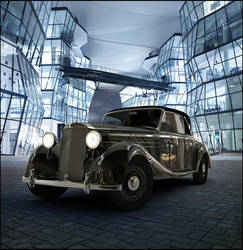 Mercedes 170s 1949  Night scene by AnalyzerCro
