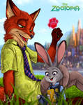.: Nick Wilde and Judy Hopps - Zootopia :.