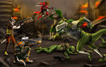 .: Battle on Adora :. by Amand4