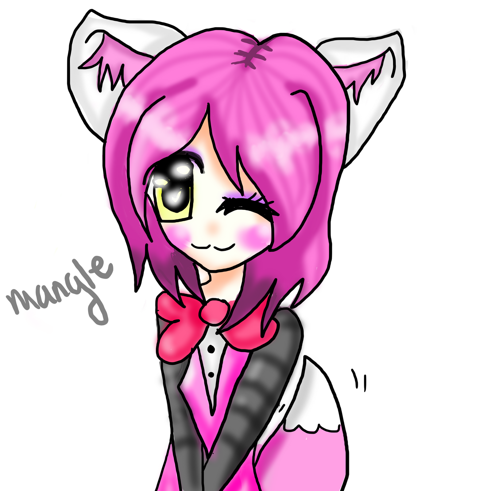 Mangle human by kittikatkun on deviantart