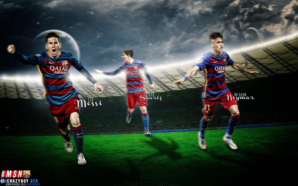 Messi Suarez Neymar MSN By CrazyyB