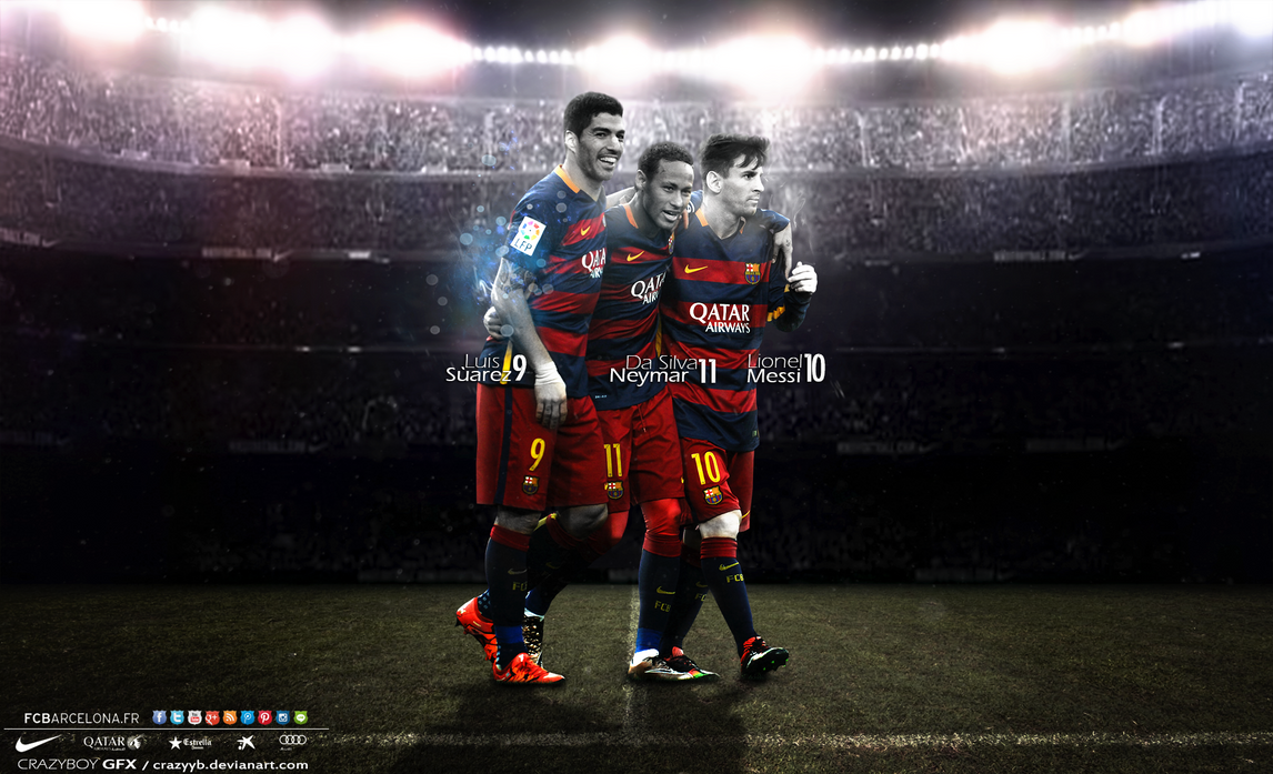 Messi Suarez Neymar MSN