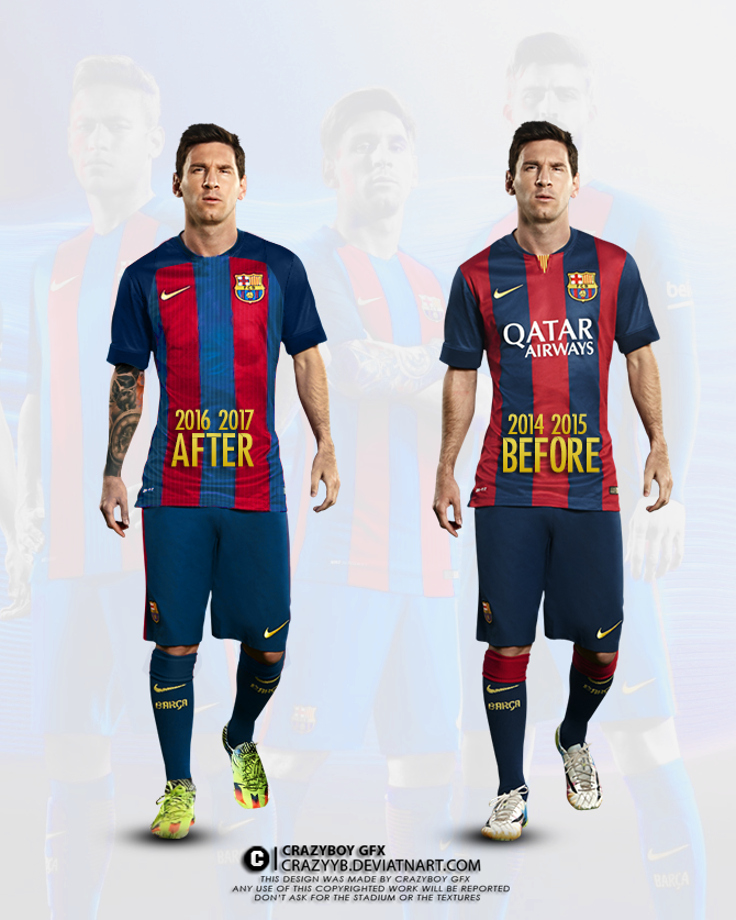 quality design b1ef3 3545c Messi with the new FC BARCELONA Kit by CrazyyB on DeviantArt