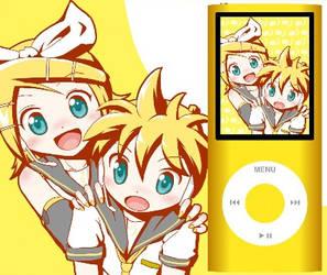 Rin and Len Kagamine ipod by megaminotsubasa