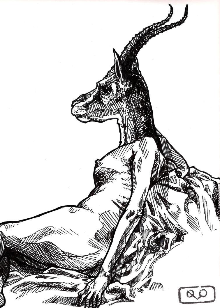 Gazelle head drawing - photo#11