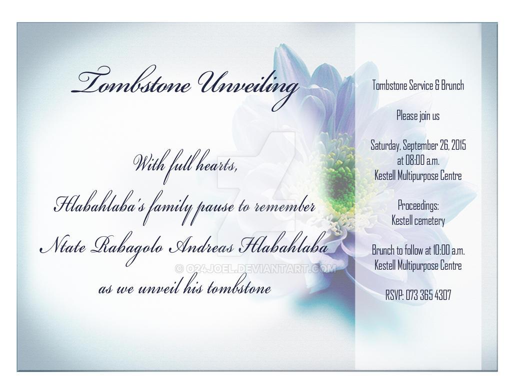 Tombstone unveiling invitation invitationswedd tombstone unveiling by o24joel on deviantart invitation thecheapjerseys Choice Image