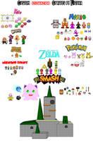 Custom Nintendo Sprites 2 by Lizuka