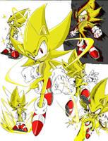 Super Sonic sketch-color by Andoryu-San