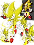 Super Sonic sketch-color