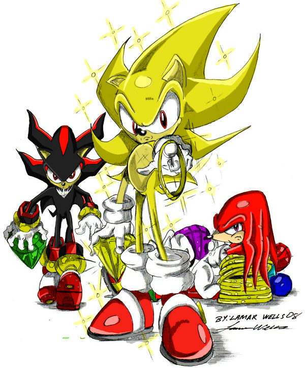 Super Sonic Knuckles Shadow By Andoryu San On Deviantart