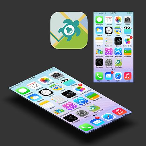 BlueTurtle app icon by MadalinVlad