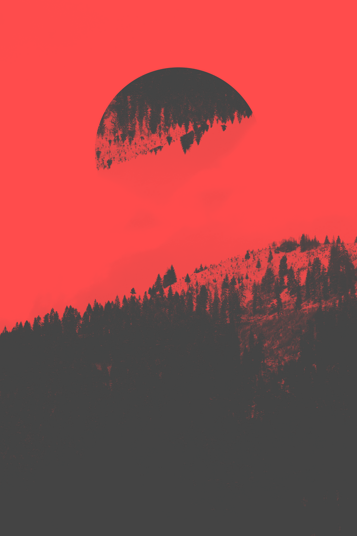 Duotone shot of mountains #red by MadalinVlad