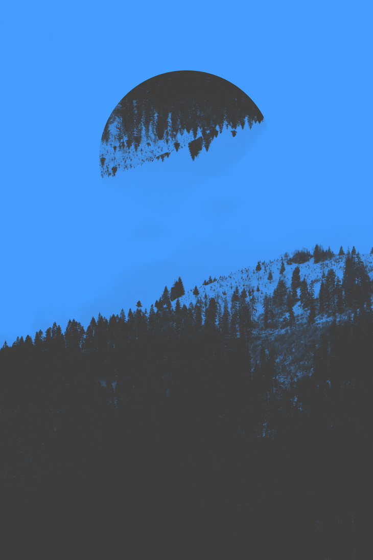 Duotone shot of mountains #blue by MadalinVlad