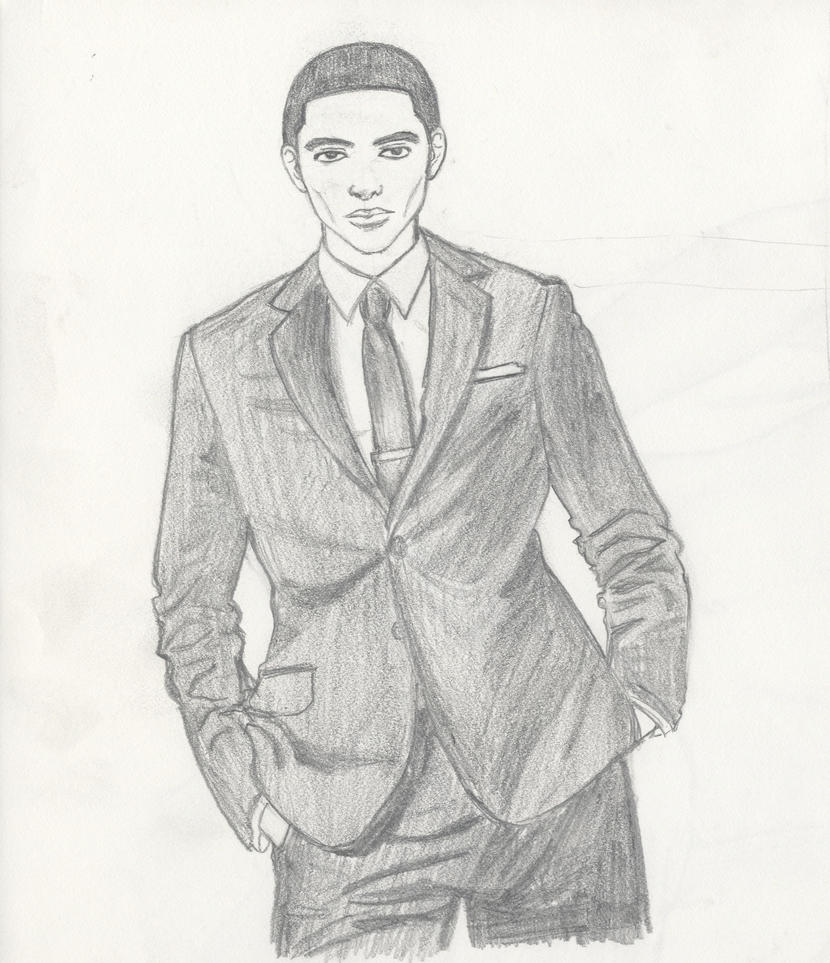 how to draw a simple suit