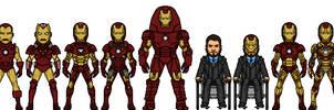 Iron Man armor room (Marvel Earth-616-19999) by LoganWaynee