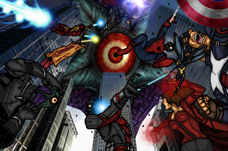 Avengers v Starro by LoganWaynee