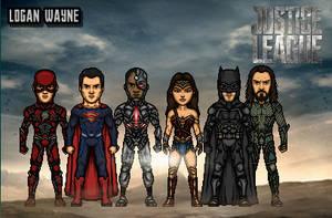 Justice League by LoganWaynee