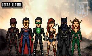 Justice League Team-B by LoganWaynee
