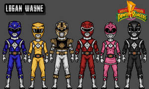 Mighty Morphin Power Rangers - White Variation by LoganWaynee