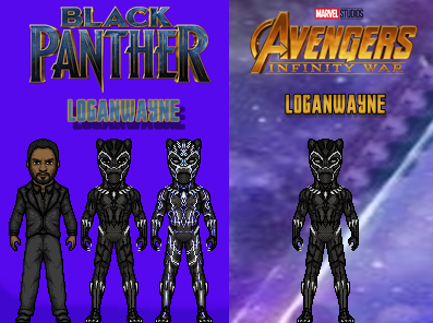 Black Panther (Movie and Infinity War) by LoganWaynee