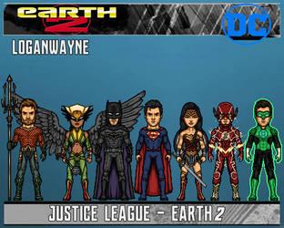 Justice League - founding members (Earth 2) by LoganWaynee