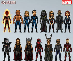 Marvel Cinematic Amalgam Universe #1 by LoganWaynee