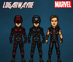 Bullseye/Hawkeye (Dark Avengers) by LoganWaynee