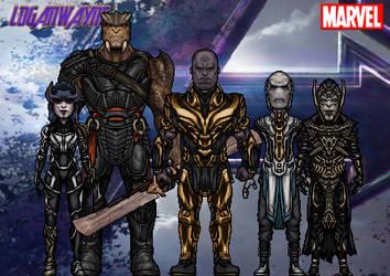 Thanos and the Black Order (Avengers: Endgame) by LoganWaynee