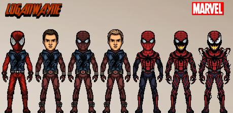 Scarlet Spider/Spider-Man/Spider-Carnage (MCU-Ish) by LoganWaynee