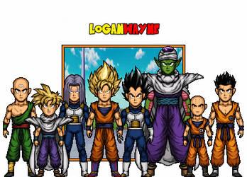 Z Fighters - Cell Saga - Dragon Ball Z