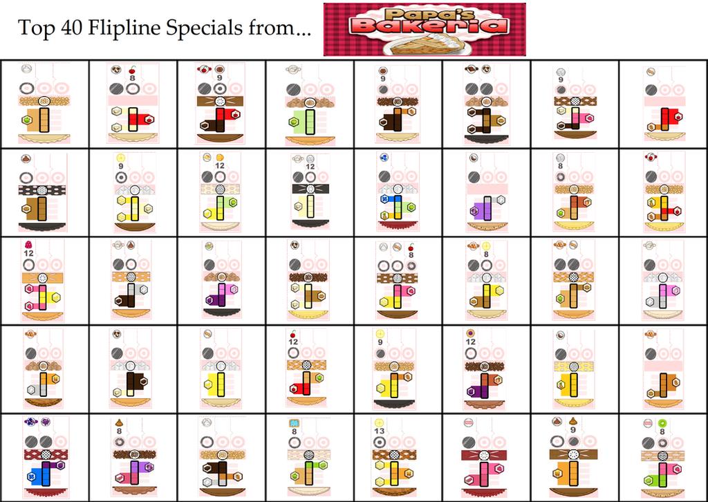 Top 40 Flipline Specials from Papa's Bakeria by Amelia411