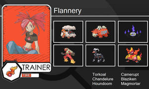 Flannery's Trainer Card