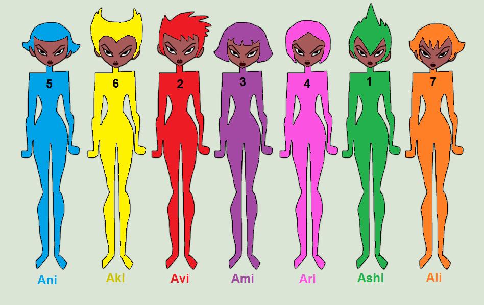 Daughters Of Aku In Rainbow Colors By Amelia411