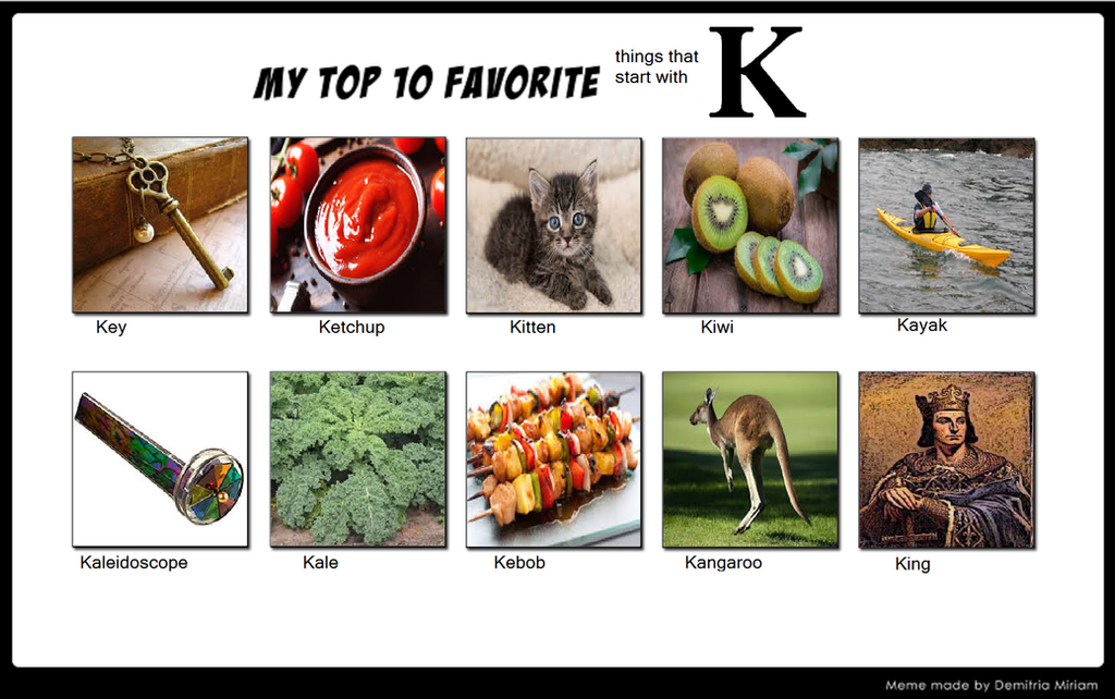 Top 10 favorite things starting with k by amelia411 on deviantart top 10 favorite things starting with k by amelia411 altavistaventures Image collections