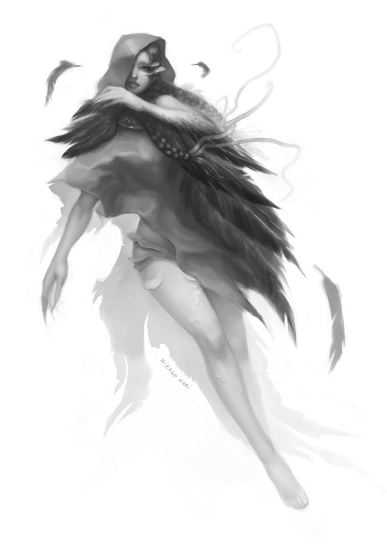 Black Angel Jezebel (sketch) by MirageMari