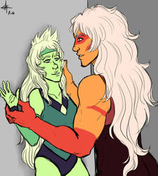 Jasper and Peridot: Space Dancers